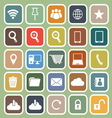 Internet flat icon on green background vector image vector image