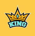 king crown sport logo vector image vector image