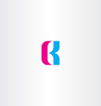 letter b cyan magenta logo icon vector image