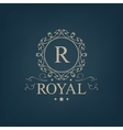 luxury royal monogram logo icon isolated vector image