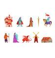 medieval and fairy tales characters knights vector image