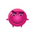 Mischievous Round Character Emoji vector image vector image