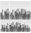 modern city skyline on white vector image