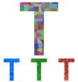 Mosaic font design - letter T vector image vector image