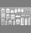 paper cut buildings house mansions silhouettes vector image