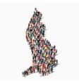 people map country liechtenstein vector image vector image