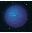 Planet Neptune in space vector image vector image