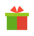 present box merry christmas icon set flat design vector image vector image