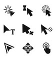 press icons set simple style vector image vector image