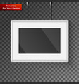 realistic frame perfect for your presentations vector image vector image