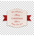 realistic merry christmas banner with text vector image vector image