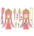 royal chair princess throne vector image vector image