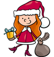 santa claus kid cartoon vector image vector image