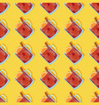 seamless pattern with red mulled wine in a glass vector image