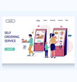 self ordering service website landing page vector image vector image