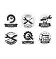service repair set labels or logos vector image vector image