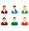set icons people vector image