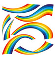 set rainbow icons vector image vector image
