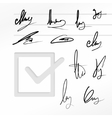 Signature set vector image vector image