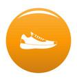 sneakers icon orange vector image vector image
