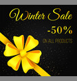 special promotion sale on winter holiday vector image vector image