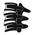 spinal column discs icon simple style vector image vector image