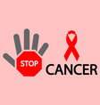 stop cancer eps 10 vector image