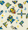 sweden soccer supporter gear seamless pattern vector image vector image
