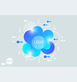 the modern liquid form design elements vector image vector image