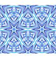 thin kaleidoscope star pattern blue vector image vector image