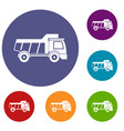 toy truck icons set vector image vector image