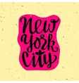 Travel poster with New York vector image vector image
