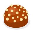 truffle icon isometric style vector image vector image