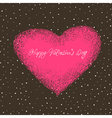 valentines card with space for text vector image vector image