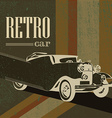 vintage car on the poster vector image vector image