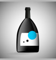 wine bottle concept design vector image