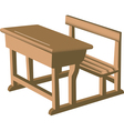 Wooden school desk vector image