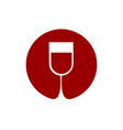 wine glass logo sommelier emblem abstract red vector image