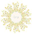 Floral frame for spring vector image