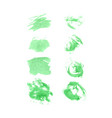 green watercolor set vector image