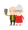 old man and woman grandmother vector image