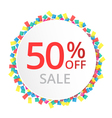 50 sale discount sign vector image vector image