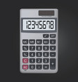 8 digit realistic calculator icon isolated on vector image