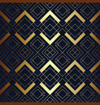 abstract art seamless blue and golden pattern vector image vector image