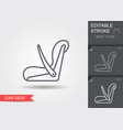 baby car seat line icon with editable stroke vector image vector image