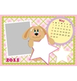 Babys monthly calendar for may 2011s vector image vector image