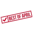 Best Of April rubber stamp vector image vector image