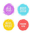 big deal text on purple painted spot brush stroke vector image