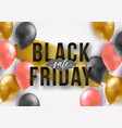 black friday sale poster with shiny 3d realistic vector image vector image