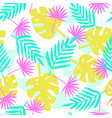 bright tropical leafs background vector image vector image